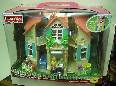 #3467 NRFB Fisher Price Country House Dollhouse Playset