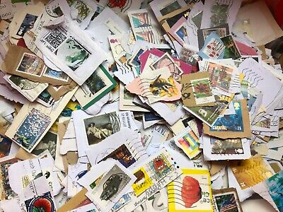750g Whole World/Foreign/UK Postage Stamps On Paper, Job Lot from Kiloware