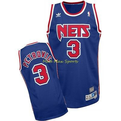f15cfbd75 DRAZEN PETROVIC Brooklyn NEW JERSEY NETS Rd NBA Throwback SWINGMAN Jersey  S-XXL