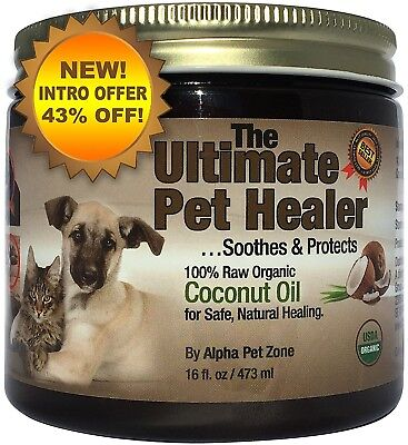 Alpha Pet Zone Coconut Oil for Dogs, Treatment for Itchy Skin, Dry Elbows, Paws