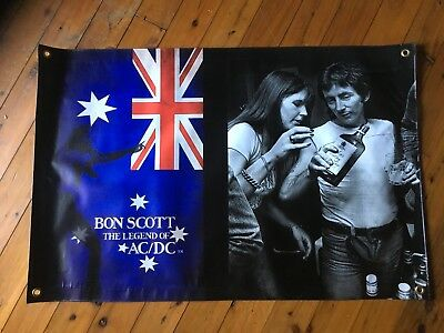 Angus young AC dc  Aussie rock band AC DC  3x2 foot man cave vinyl Bon scott