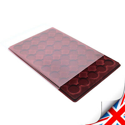 RED COIN TRAY PO-40 FOR £2, 50P, - 40 COMPARTMENTS ø 32 mm