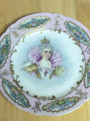 Porcelain Painted Wall Plate Marie Medici Royal Family