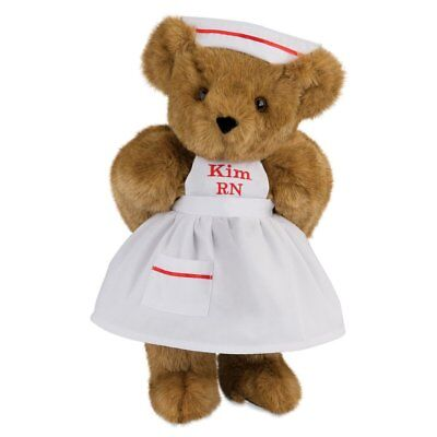 Vermont Teddy Bear - Nurse Bear, 15 inches, Brown Fur, Made in the USA