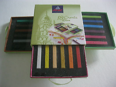 Conte Set 18pc Carre Assorted Conte Crayons-Artist Quality Nice Gift