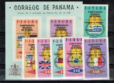 Panama.1966 World Cup.Soccer.Football.Fussball.Imperforated.Overprint.MNH**