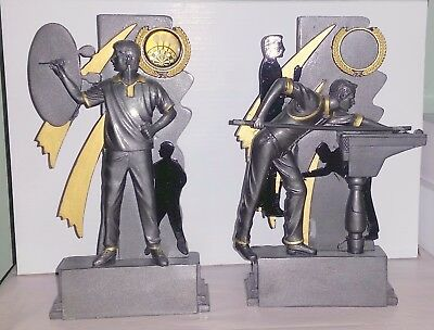 """8"""" Snooker/pool/darts Silhouette Trophy ,engraved Free"""