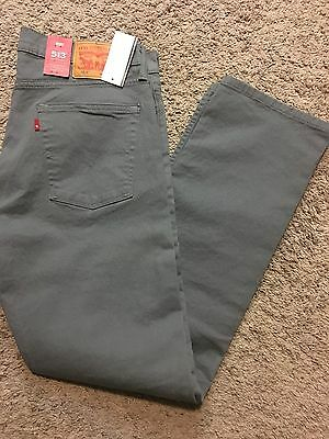 NWT Mens Levi's 513 jeans Slim Straight Gray 38x32 Style # 08513-0338 MSRP $70