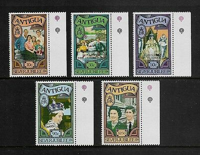 ANTIGUA - mint 1977 Royal Visit opt on Silver Jubilee, set of 5, MNH MUH