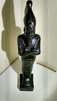 Ancient Egyptian gods Osiris statue