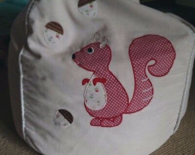 Kids Beanbag, Pink Cocoon Couture, Cute Squirell