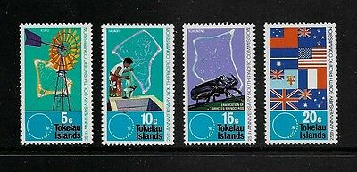TOKELAU - mint 1972 75th Anniv South Pacific Commission, No.1, set of 4, MNH MUH
