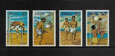 TOKELAU - mint 1981 Sports, set of 4, MNH MUH