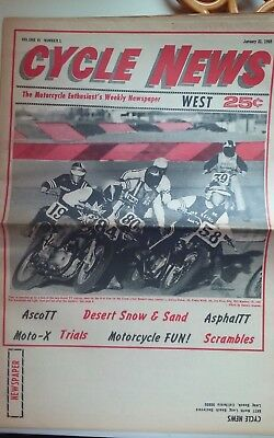 Jan. 21, 1969 Cycle News - Ascot - Carlsbad - Perris - Original - Motorcycles