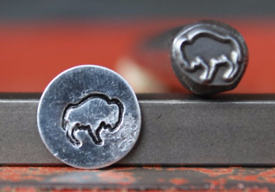 SUPPLY GUY 8mm Buffalo Metal Punch Design Stamp SG375C-35, Made in the USA