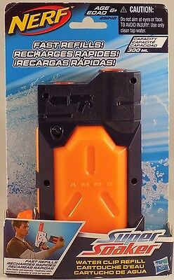 Nerf Super Soaker: Water Clip Refill (10 oz), Brand New & Sealed