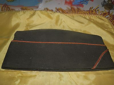 WWII Period Chocolate Elastique Overseas Cap-Signal Corps Piping-Scarce!