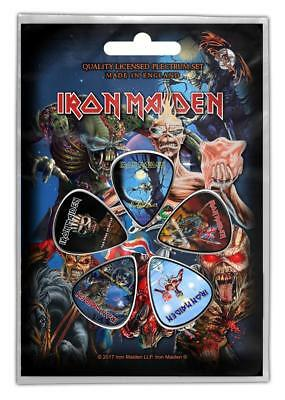 Official Licensed - Iron Maiden - Later Albums 5 Guitar Plectrum / Picks Pack