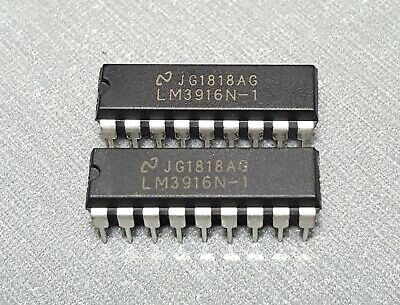 LM3916N IC DRIVER DOT BAR DISPLAY 18-DIP Pack of 2