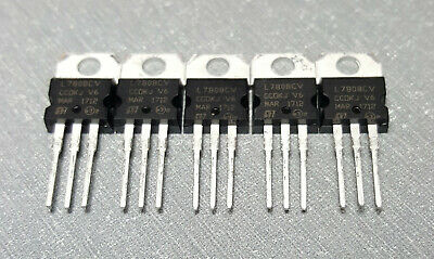 L7808CV IC REG LINEAR 8V 1.5A TO220-3 Pack of 5