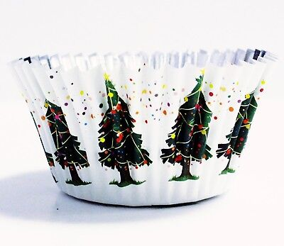 PME Christmas Tree Foil Lined Baking Cases for Cupcakes, Standard Size with Deep