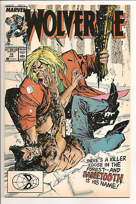 Wolverine #10 NM- 1988 First Appearance of Sabretooth