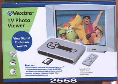 Vextra TV Photo Viewer - RCA View Digital Photos on Your TV w/ Remote (2558)