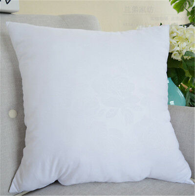 Home White Cross Stitch Pillow Core Square Pillow Inner Cushion Insert Sofa IW