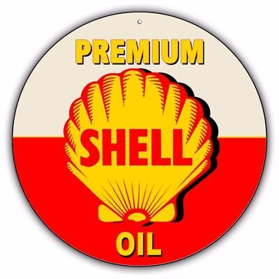 Shell Oil Vintage Metal Sign gasoline can old style garage bar man cave C002