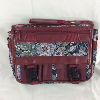 Floral Tapestry LDS Scripture Case Standard Mormon Quad Tote Carrying Maroon