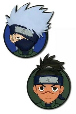 *NEW* Naruto Shippuden Kakashi & Iruka Pin (Set of 2) by GE Animation AUTHENTIC