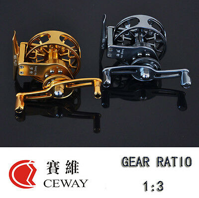 Winter Reels HP-55 All Metal Fish Coil Fishing Gear Ice Fishing Reel Gold Silver