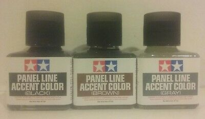 Tamiya Panel line accent color bundle