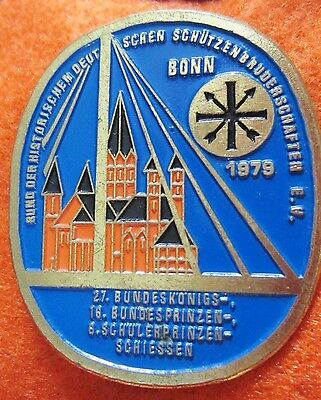 Bonn Germany..Competition target shooting medal brooch lge. pin