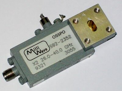 MILLIWAVE S92-2352 microwave frequency doubler extender 26 - 40 GHZ output