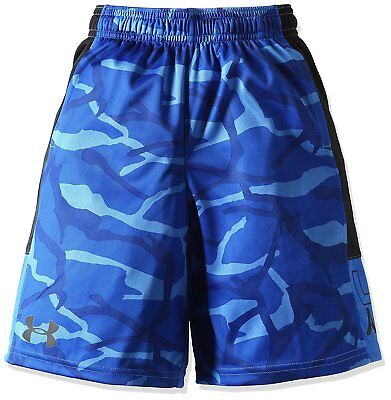 Under Armour Boys Instinct Printed Shorts, Ultra Blue/Black, Youth Small