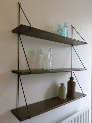 Vintage Mid Century 50's Dutch String Shelving Unit 20th Century Modular Shelves