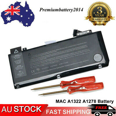 A1322 Battery for Apple MacBook Pro 13 inch Unibody A1278 2009 2010 2011 AU
