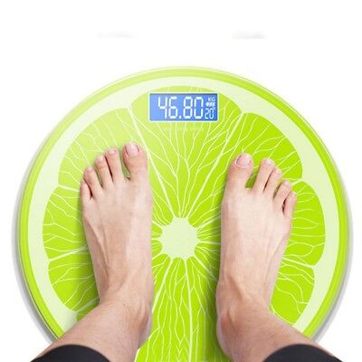 Lovely Electronic LCD Digital Bath Body Weight Smart Scale Tempered Glass 150kg