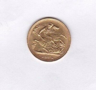 1900S Old Head Victoria Gold Half Sovereign In Very Fine Or Better Condition
