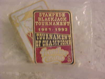 Frontier Casino Tournament Of Champions Stampede Black Jack Tournament Lapel Pin