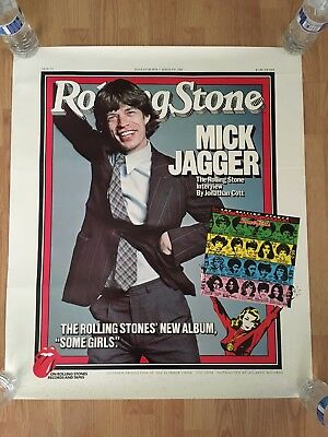 ROLLING STONES SOME GIRLS Promo Poster-Rolling Stone Magazine 1978 Mick Jagger