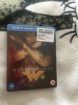 Wonder woman  2D and 3D Blu-ray   film  Steelbook  HMV  Limited edition set