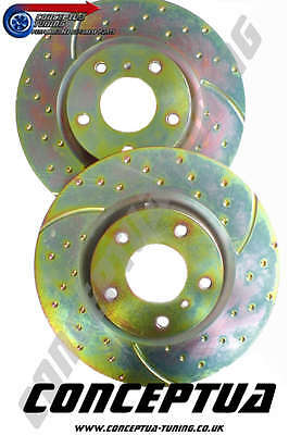 2 x EBC Ultimax vorne gerillt Bremse discs-for R32 GTS-T RB20DET Skyline