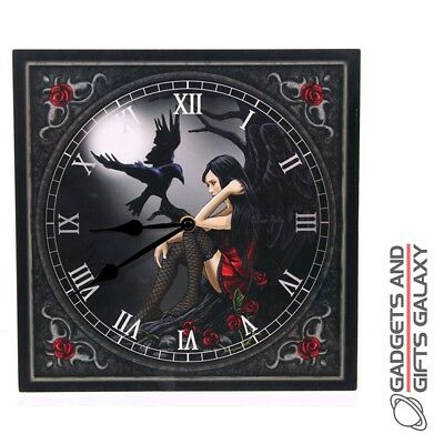 FANTASY DESIGN DARK ANGEL RAVEL WALL CLOCK GOTHIC DECORATION Home decor acc