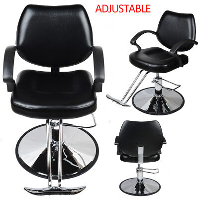 Reclining Hydraulic Barber Salon Cutting Hairdressing Chair PU Leather Adjust