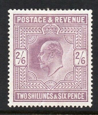 GB KEVII SG260 2/6d Lilac Mint Hinged Cat £280