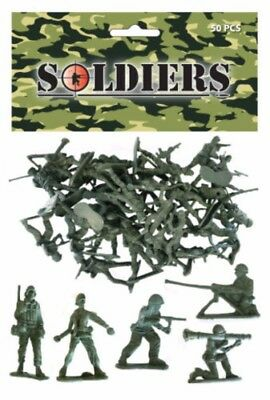 Green Plastic Toy Soldiers Army Combat Platoon Story Party Bag Filler School Uk