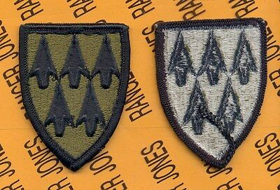 US ARMY 32nd ADA Air Defense Artillery Brigade OD Green & Black uniform patch