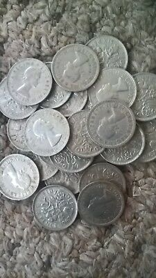10 lucky sixpences 6d  coins ideal for Christmas puddings lucky charm  wedding